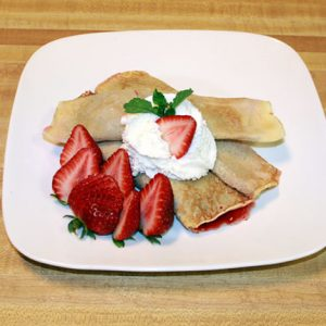 Strawberry Crepes - Nalesniki