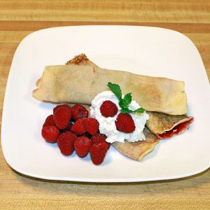 Raspberry Crepes - Nalesniki