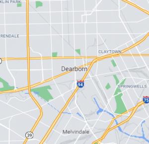 Dearborn map