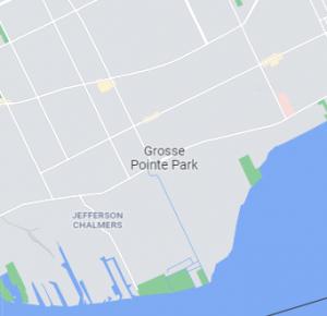 Grosse Pointe Park map