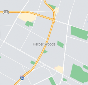 Harper Woods map