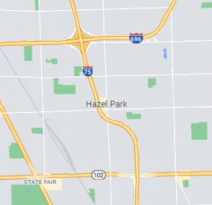 Hazel Park map