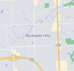 Rochester Hills map