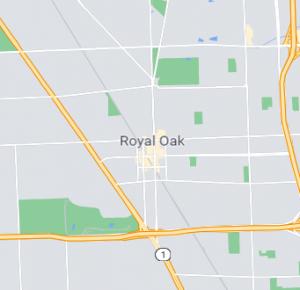 Royal Oak map