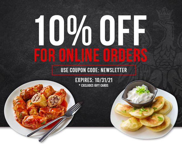 10% off for online orders