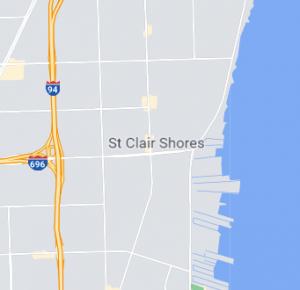 St Clair Shores map